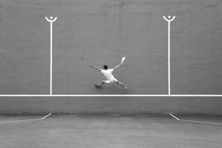 Title: la raquette, 115 x 160 cm, Inkjet print, 2016