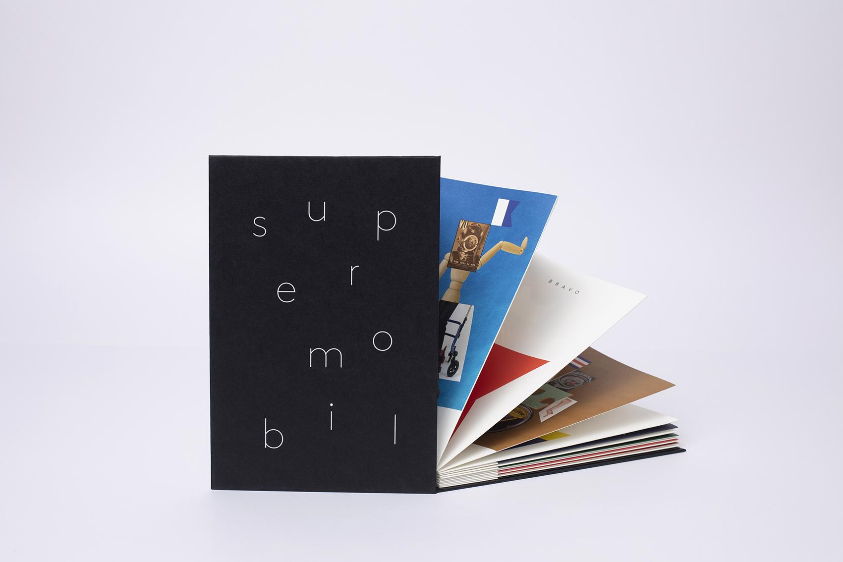 SUPERMOBIL – Leporello – 28 pages RV - 22,5 x 15 cm – Impression Offset - Photographie Ghislain Mirat