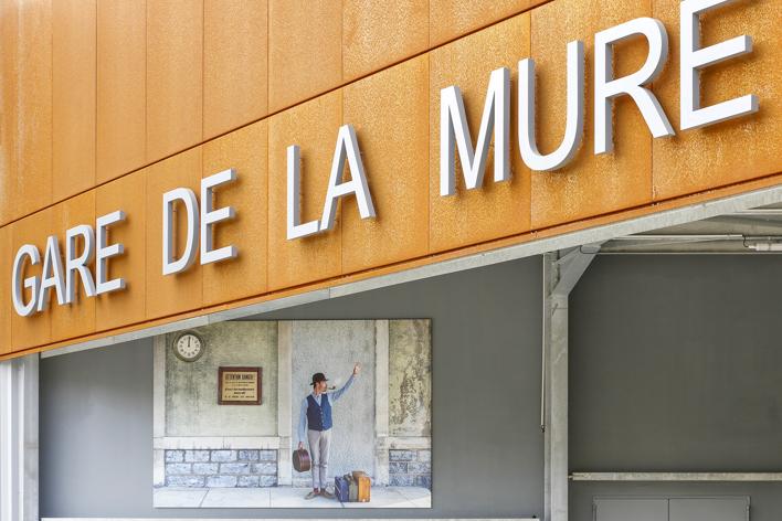 Exhibition view - Railway station La Mure - Fr