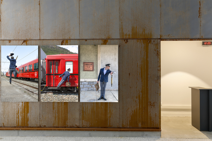 Exhibition view - La Mure railway station