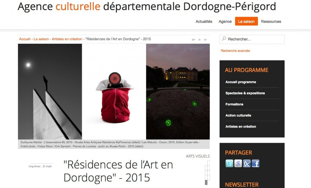 Résidence artiste Dordogne Guillaume Martial