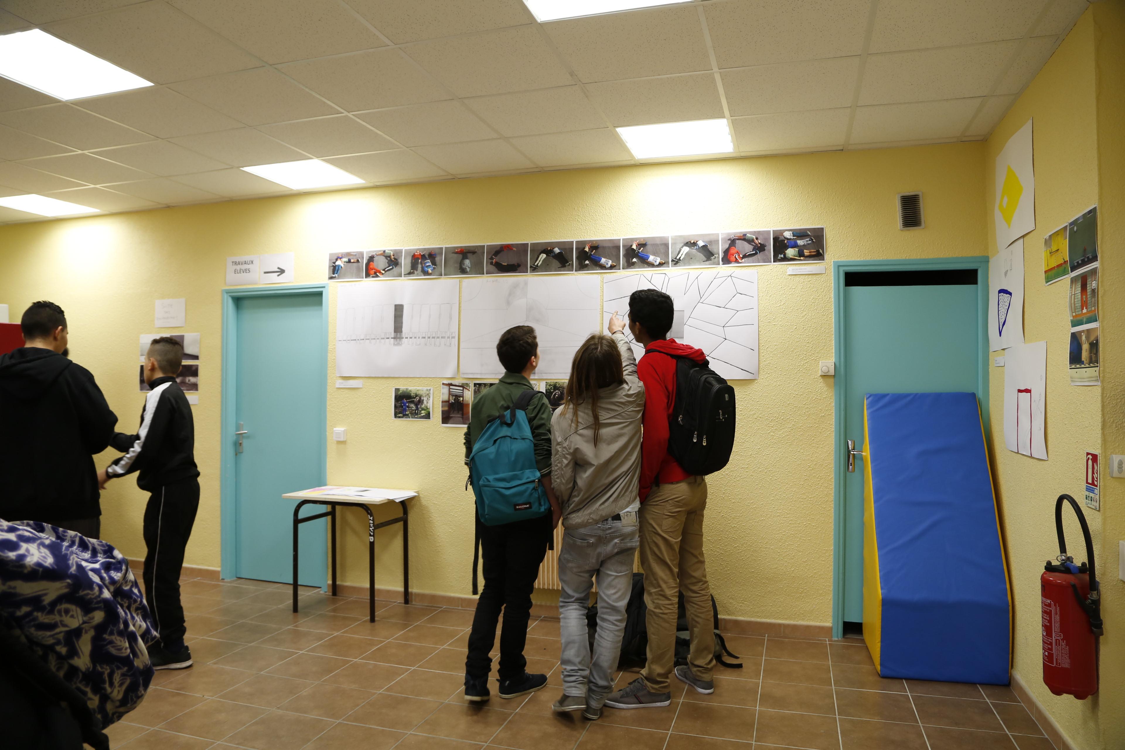 résidence d'artiste Guillaume Martial collège Fontcarrade Le modulor